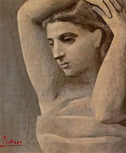 Bust of a Woman, Arms Raised, 1922
