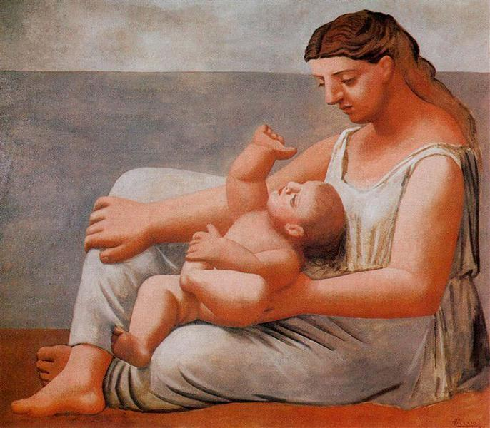 Woman with Child on the Seashore, 1922