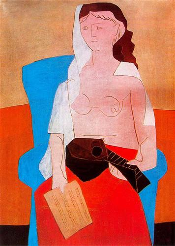 Woman with Mandolin, 1927
