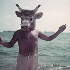 Picasso dressed as Minotaur.