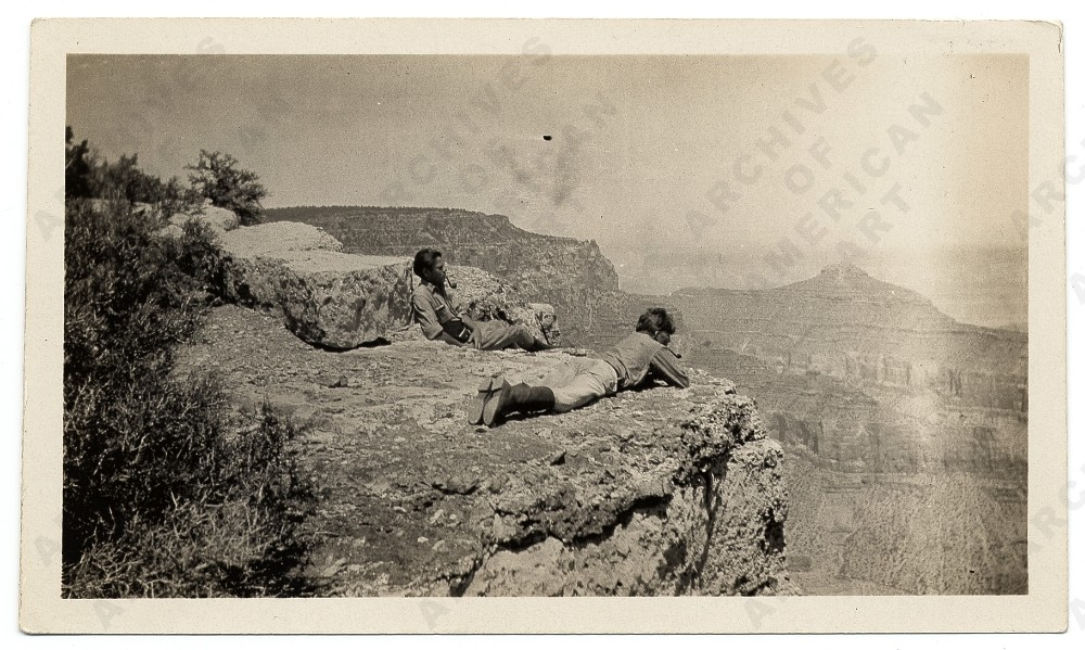 Jackson with brother Sande at the Grand Canyon, 1927