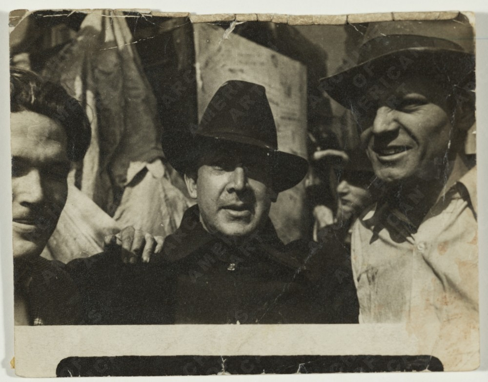 George Cox, David Alfaros Siqueiros, and Jackson Pollock in New York, 1936