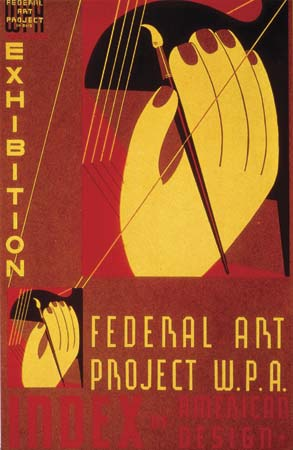 Poster advertising a Federal Art Project exhibition