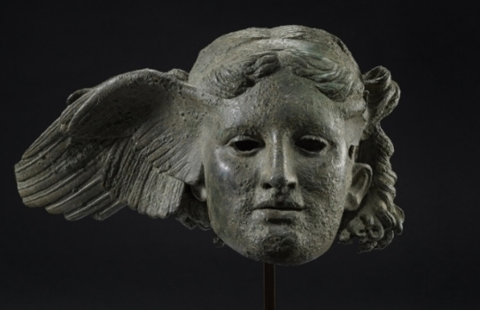 Bronze head of Morpheus, Greek god of Dreams.