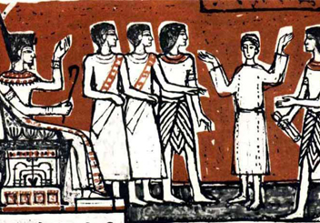 Joseph interpreting Pharaoh's dream.