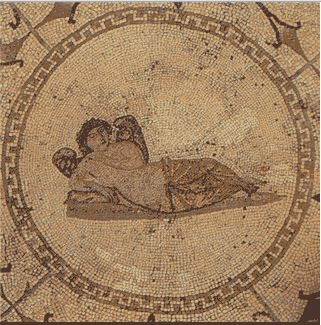 Mosaic of a dreamer at anAsclepieia.