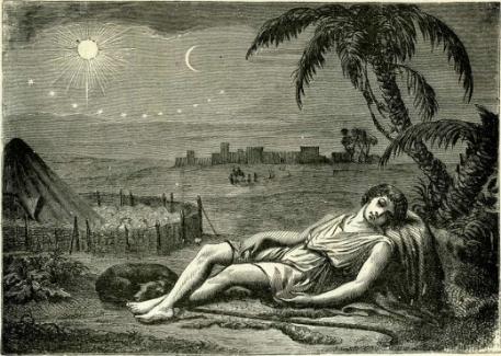 Saint Joseph dreaming.