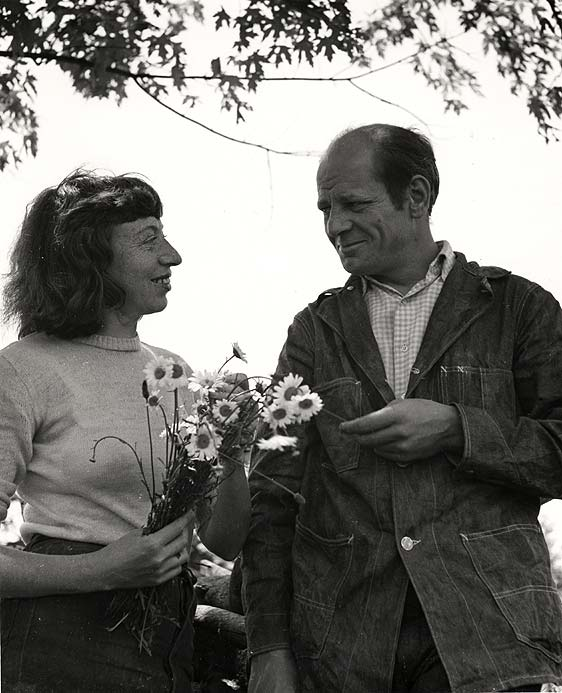 Pollock and Krasner in Springs, 1945