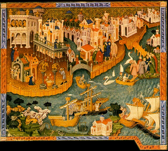 Venice would have been the first European port of call for Arab traders bringing in Lapis Lazuli/Ultramarine