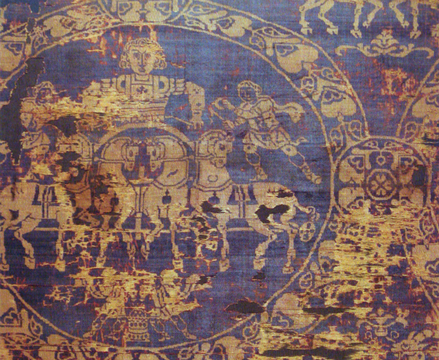 Burial Shroud of Charlemagne, dyed in Tyrian Purple
