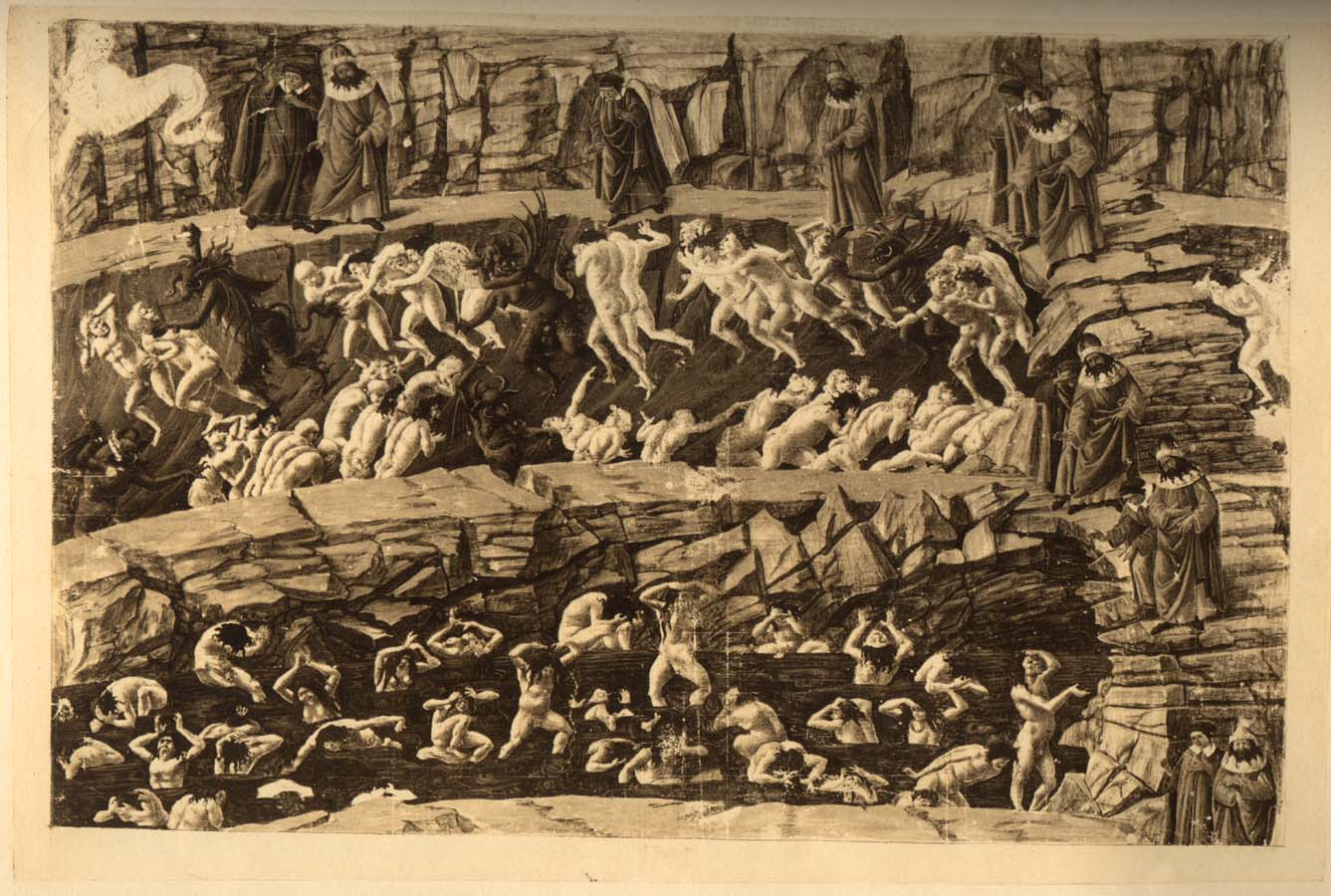 Illustration for Dante's Inferno - Pimps, Seducers, and Flatterers