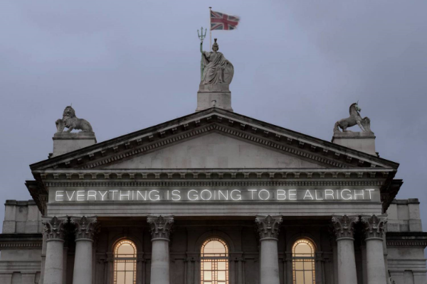Martin Creed,  Work No. 203:  Everything is Going to be Alright , 1999