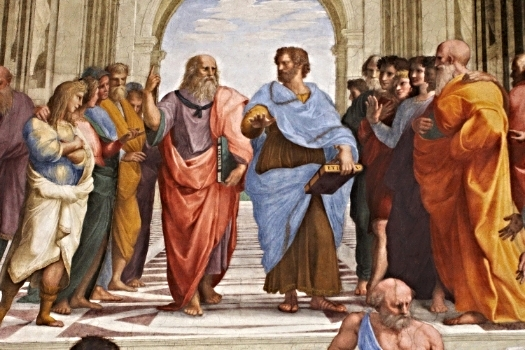 Raphael da Urbino,  The School of Athens  (detail showing Plato and Aristotle), 1509 - 1511
