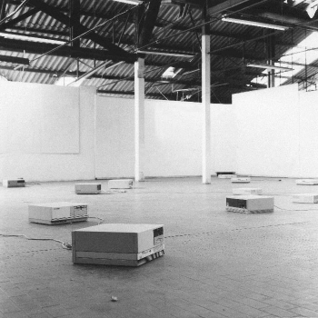 Maurizio Bolognini,  Programmed Machines,  1992-97 (hundreds of computers are programmed to generate random images which nobody would see).