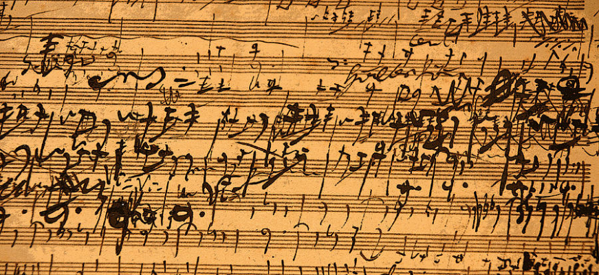 Musical notation by Ludwig van Beethoven.