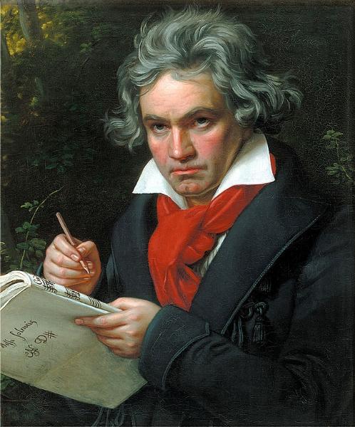Ludwig van Beethoven, by Joseph Karl Stieler, 1820