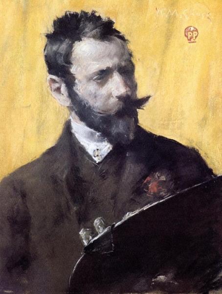 Self-Portrait, Wassily Kandinsky, c 1884