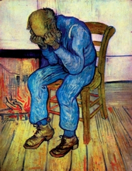 Vincent van Gogh,  Old Man Sorrowing - At Eternity's Gate , 1890.