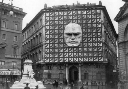 "Mussolini's headquarters in Rome.  Mussolini never told you ""No!""  He was more about ""Yes!,"", more about kind and gentle persuasion to his point of view!"