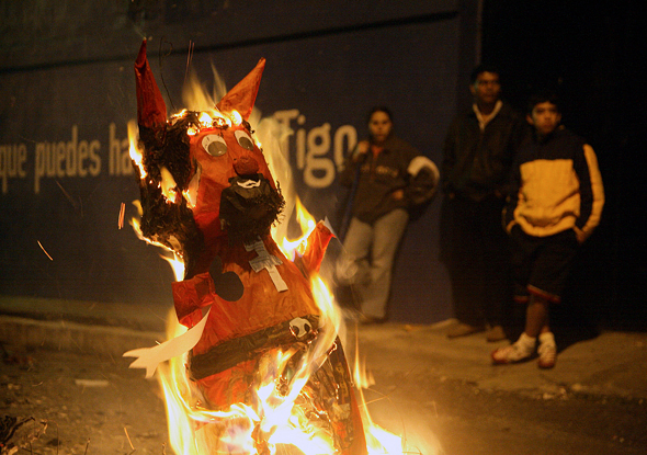 Burning the Devil in Guatemala....