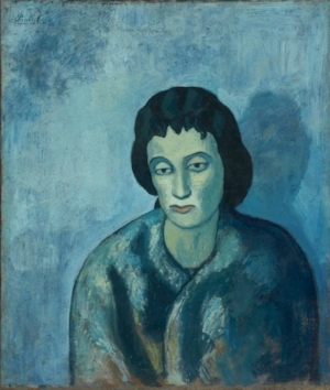 Pablo Picasso,  Woman with Bangs ,(1902)