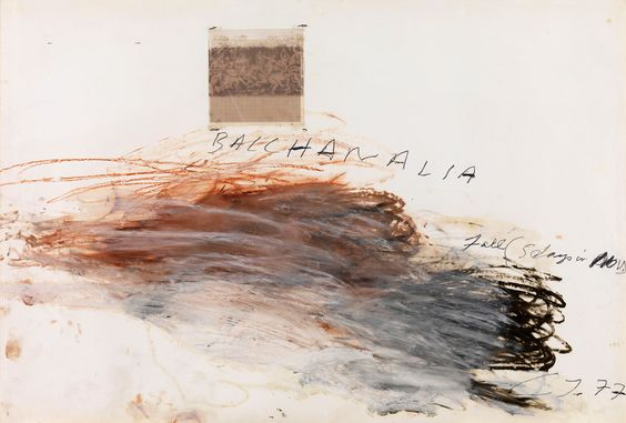 Cy Twombly, Bacchanalia - Fall ,(1977)