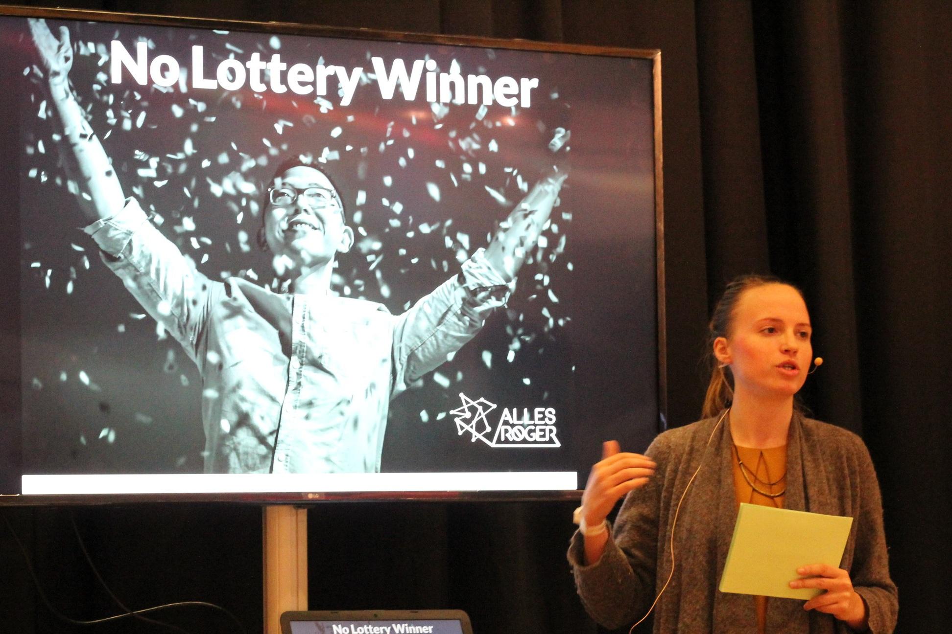 Friederike bei ihrem Vortrag zum Thema Effectuation - voll in Action