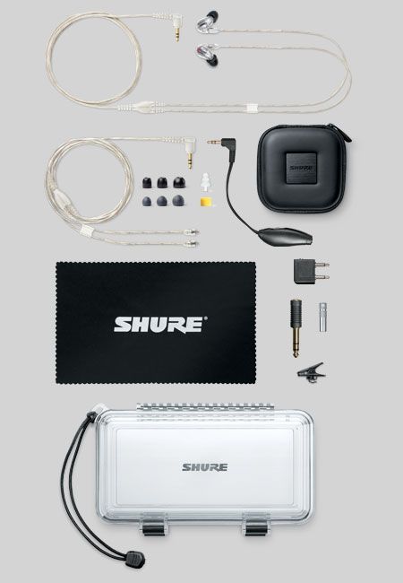 The Shure SE846 have an accessory package fitting of one of the worlds best earphones.