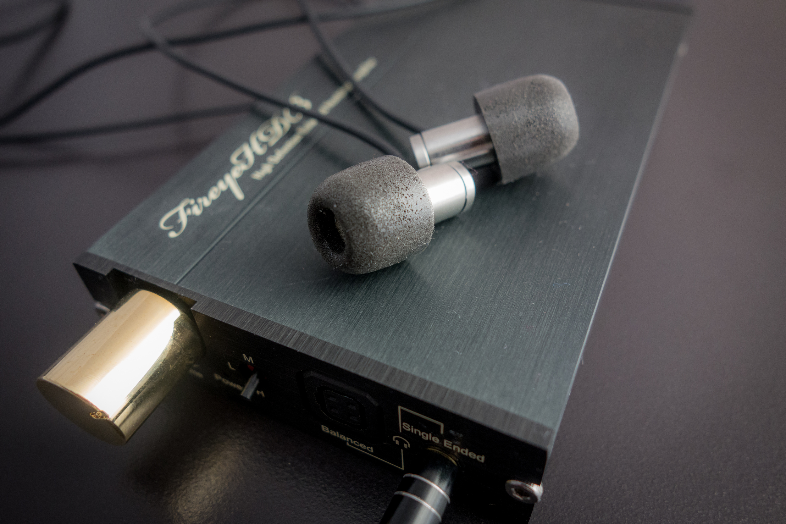 Flare R2Pro earphones paired with the Firestone Fireye HDB+ Headphone Amp. The Flare Audio Earphones produced some excellent sound in our review.