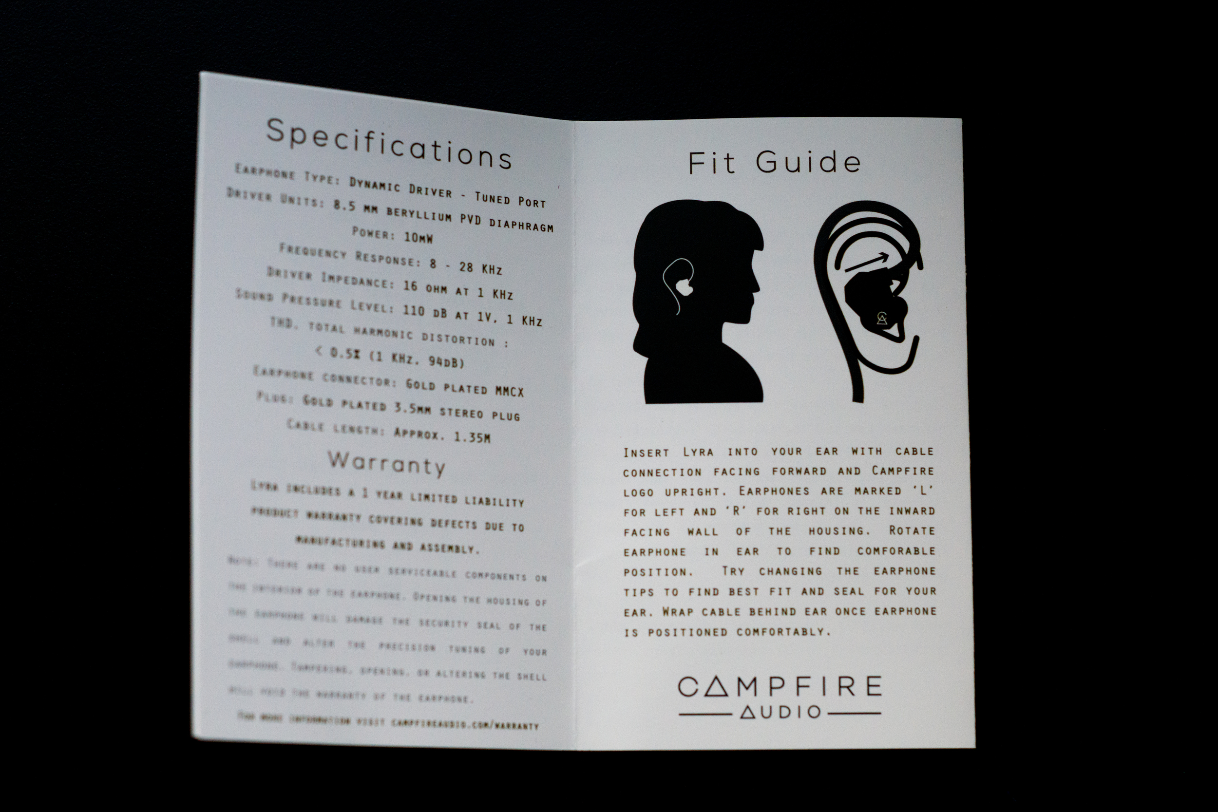 Campfire Audio Lyra - This guide helps user on how to get the best fit for your earphones.