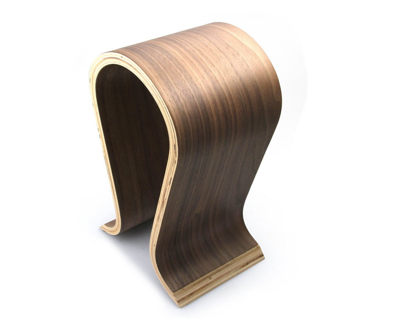 The traditional wooden omega style headphone stand