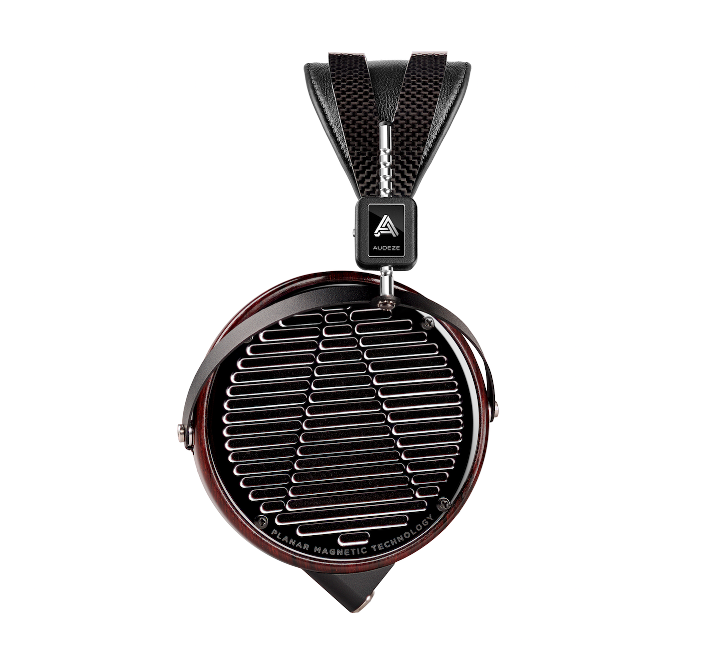 Audeze LCD-4 headphones with a carbon, wood and chrome finish.