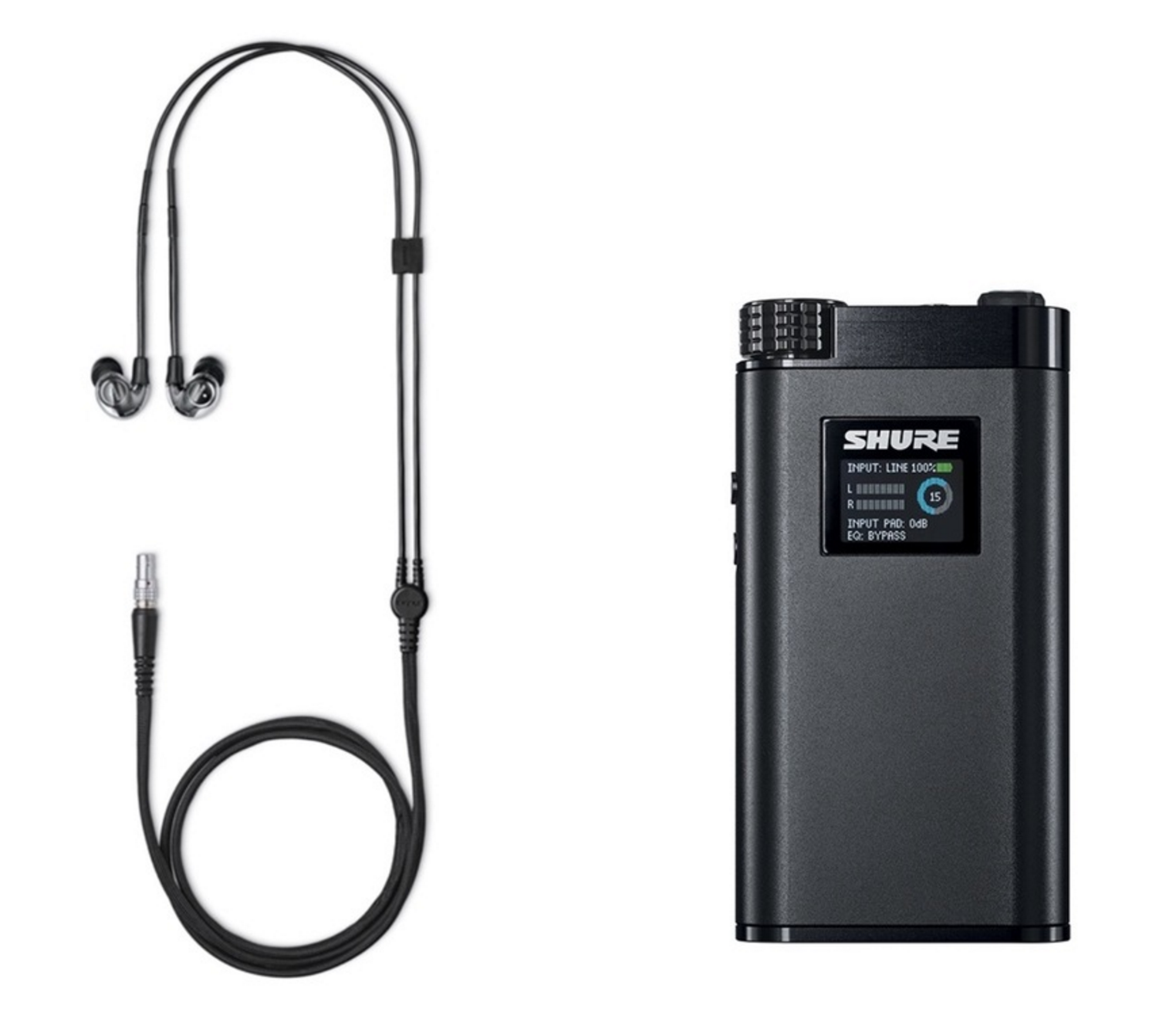 The Shure KSE1500 IEM and Amplifier- the worlds first electrostatic earphone.