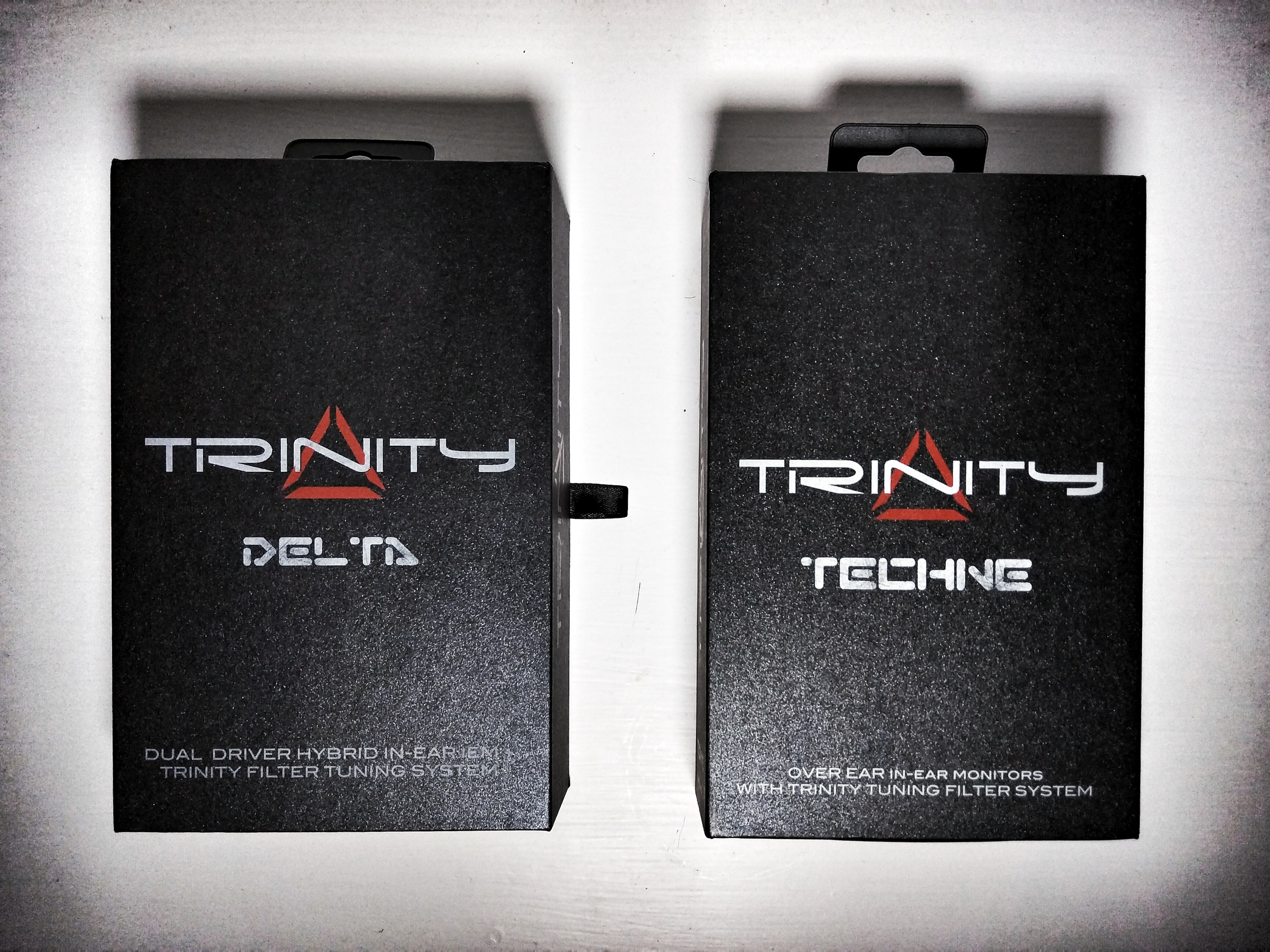 Boxes for the Trinity Audio Techne and Delta Earphones