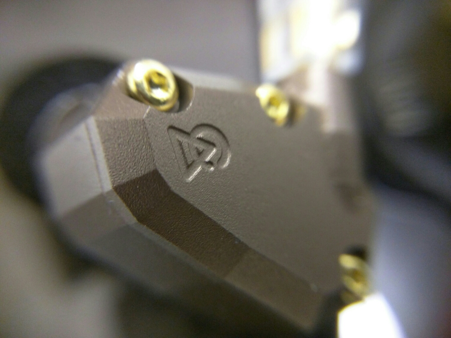 Macro shot of the outside of the Campfire Audio Jupiter IEM