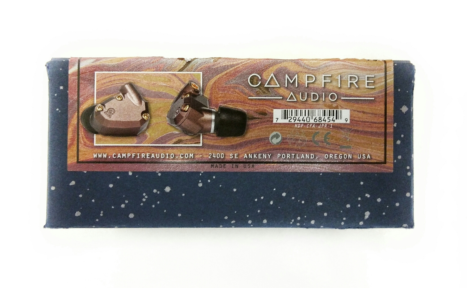 The box for the Campfire Audio Jupiter Earphones.