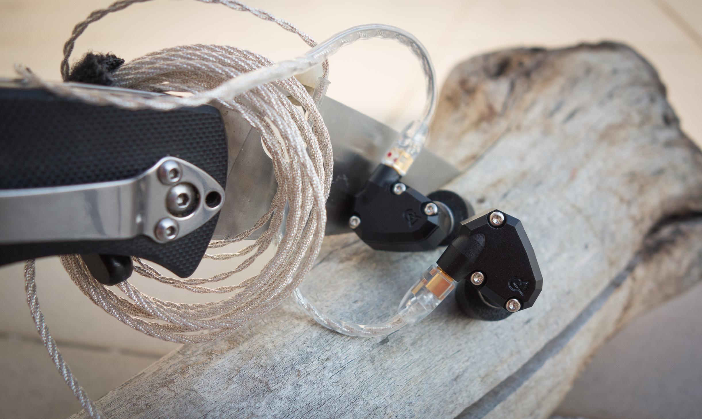 Campfire Audio Orion IEM and Spyderco Tenacious.