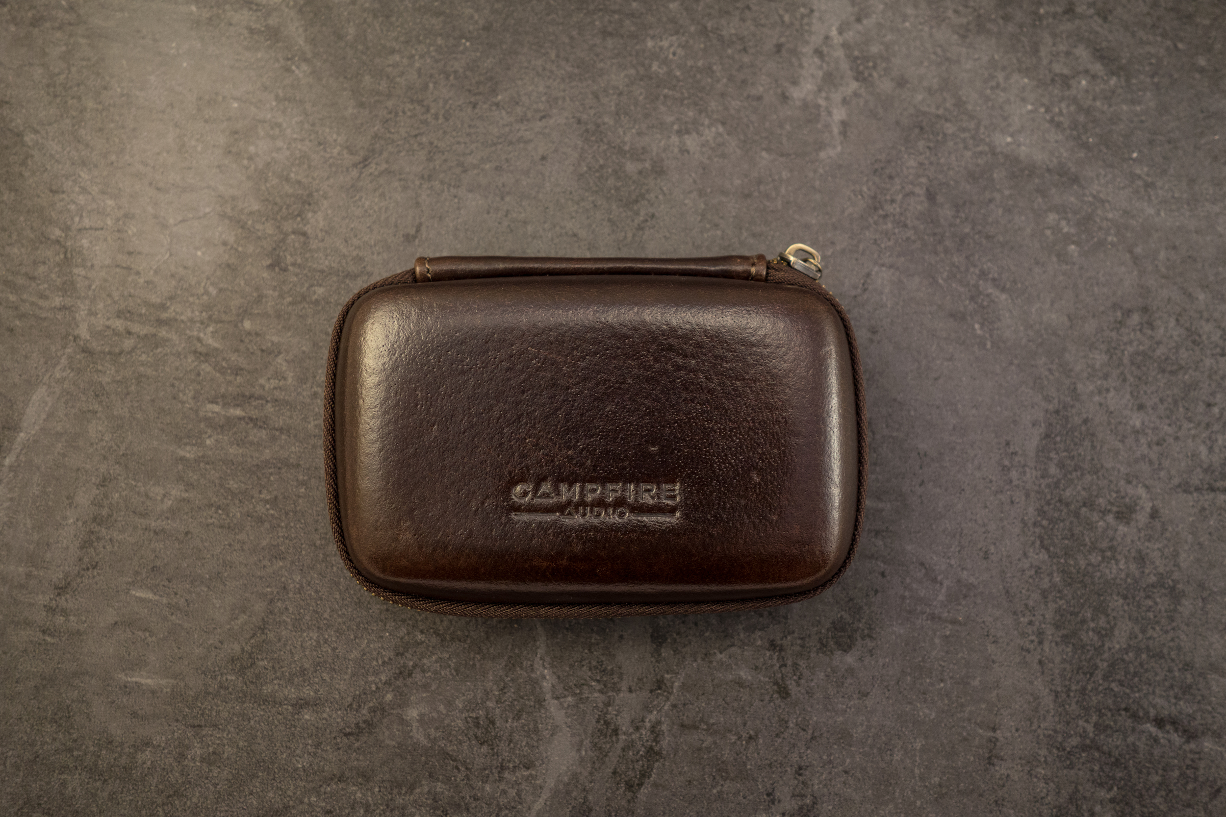 The Andromeda case comes in a nice dark brown leather finish.
