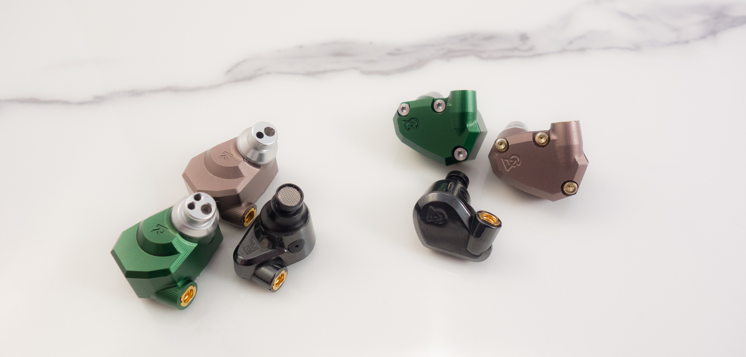 A size comparison of the Campfire Audio Lyra, Jupiter and Andromeda.
