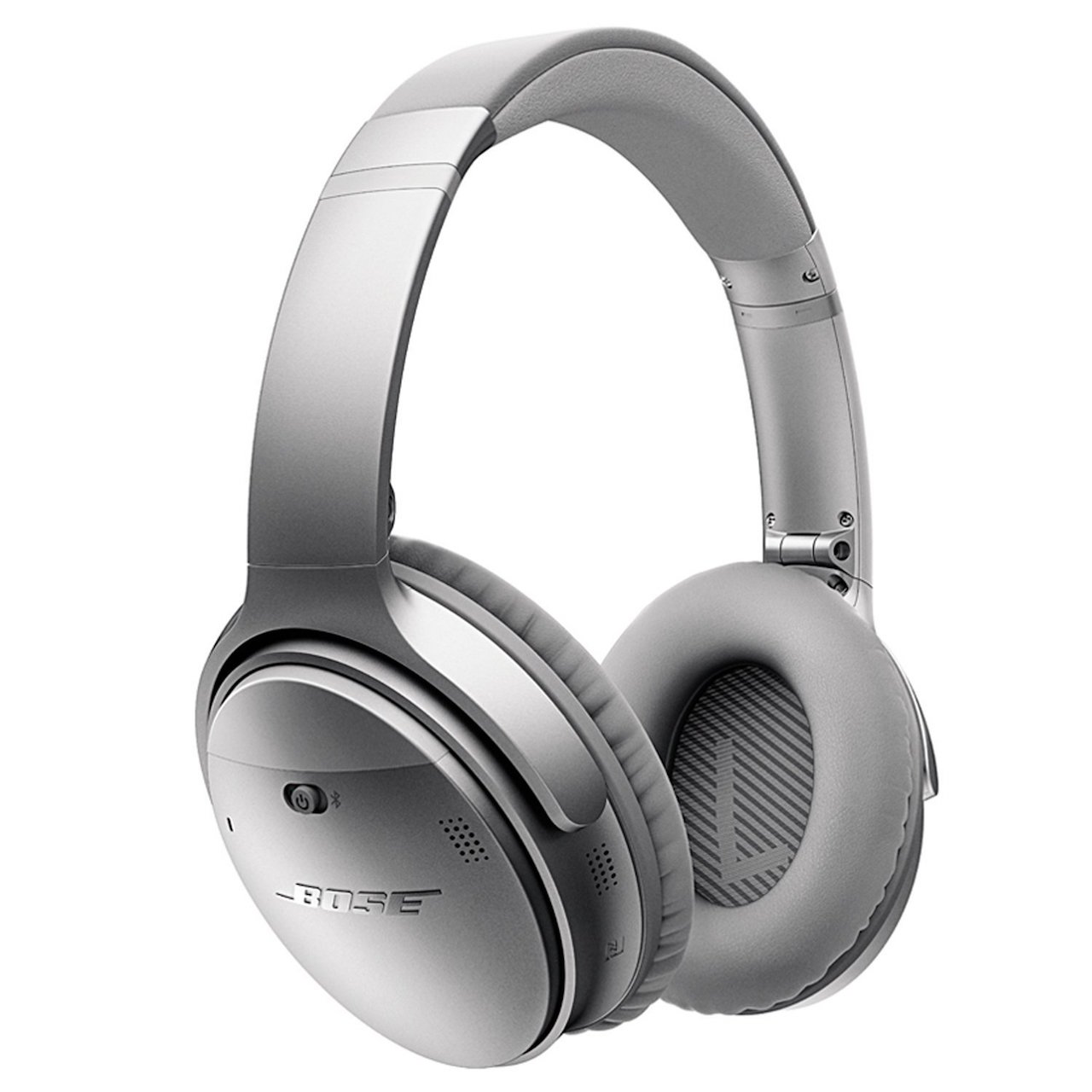Bose QC35 in Silver. Noise Cancelling headphones.