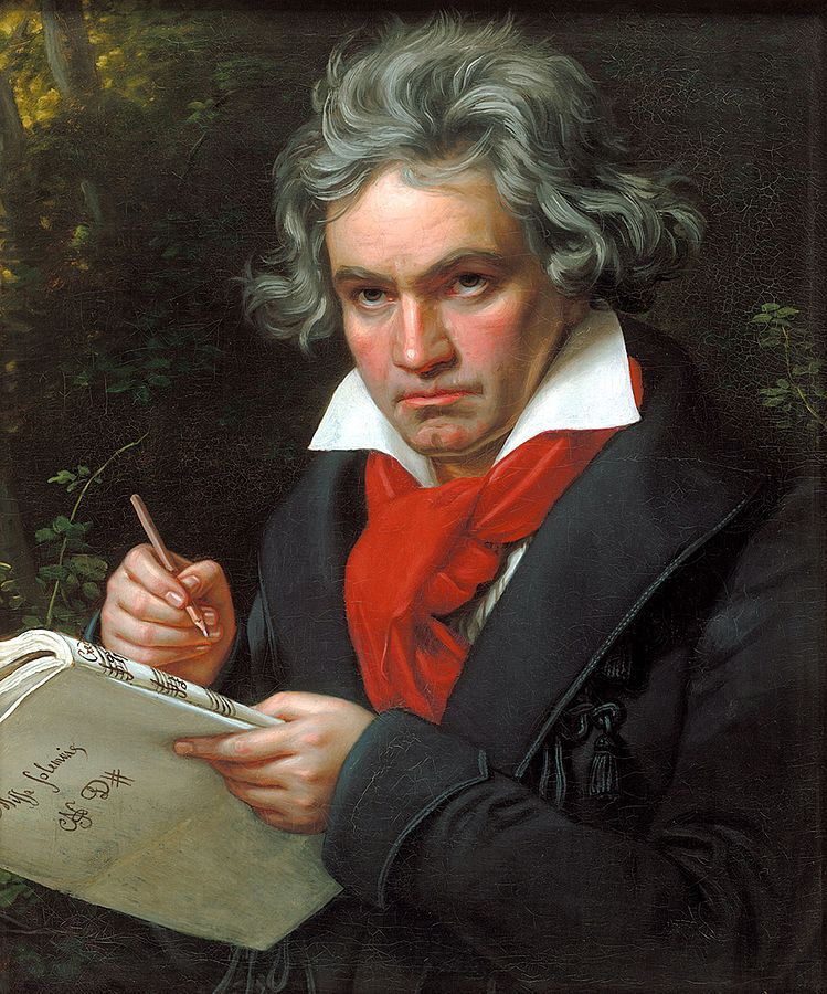 Beethoven writing the ninth symphony whilst deaf.