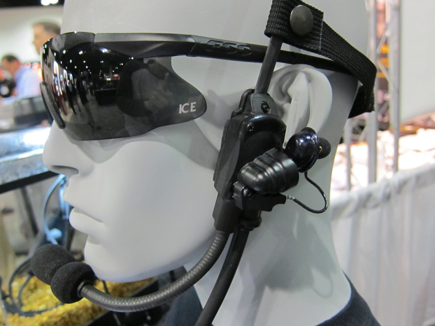 A MILITARY BONE CONDUCTION HEADPHONE AS USED BY THE US ARMY, DEVGRU AND SEAL TEAM SIX.