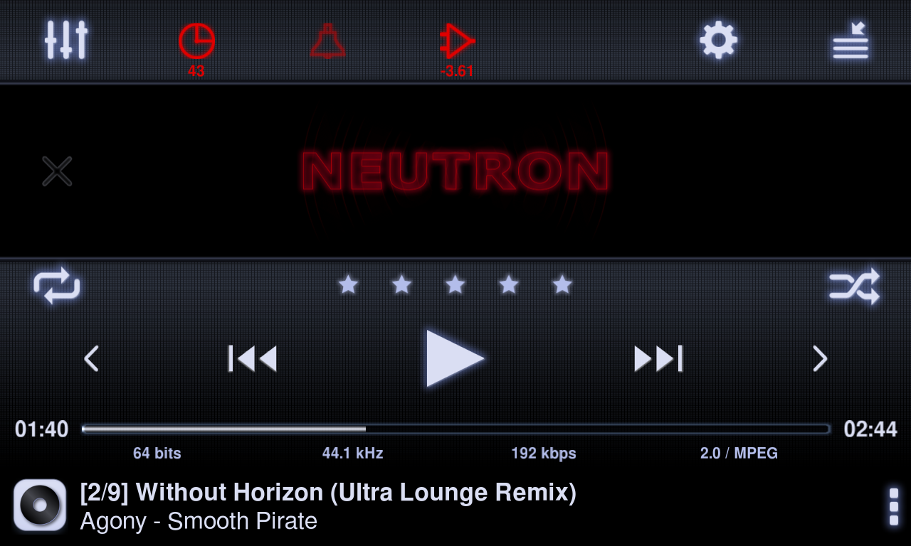 Neutrons home screen navigation controls are well laid out and simple to use. Dig a little deeper into the UI and you see the real power of this HD music player app lies in the ability to fine-tune every aspect of the sound.