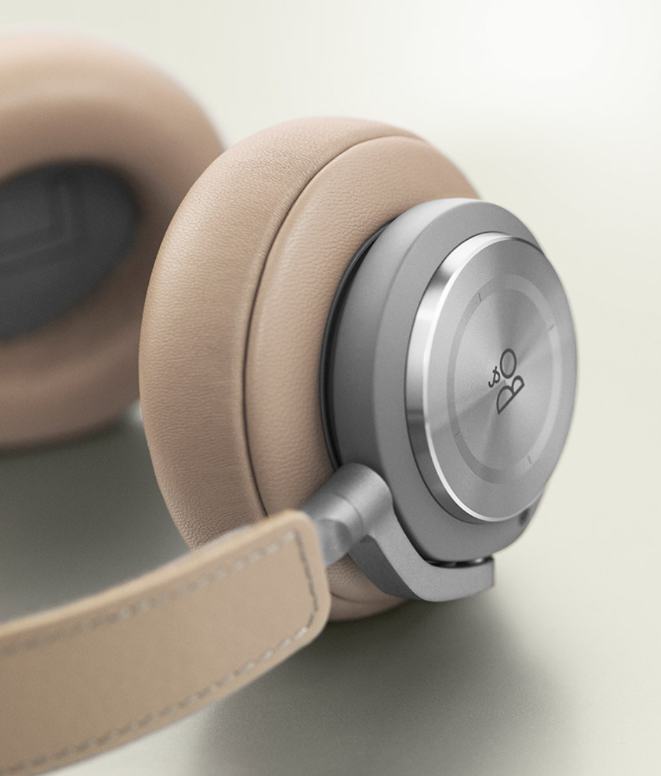 Brown and silver version of the bang & Olufsen Beoplay H9 Wireless Noise Canceling headphones.