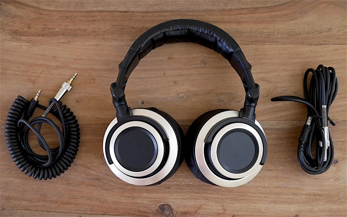 The Status Audio CB-1 Headphone with 2 cables - One coiled 3.5mm headphone cable for portable use and another straight cable for home use.  Both performed excellent in our review.