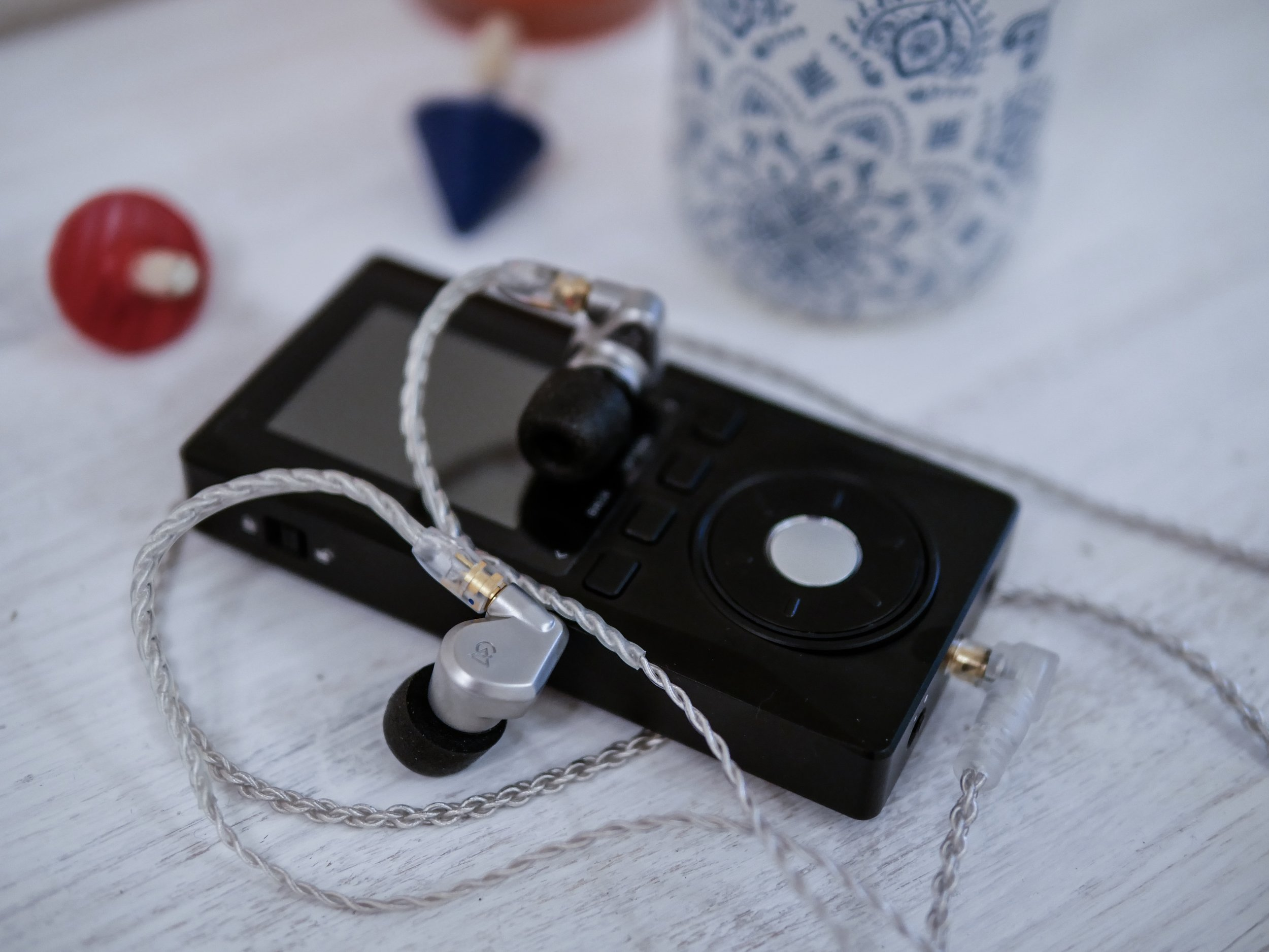 Xduoo X10 high resolution music player with some Campfire Audio earphones.