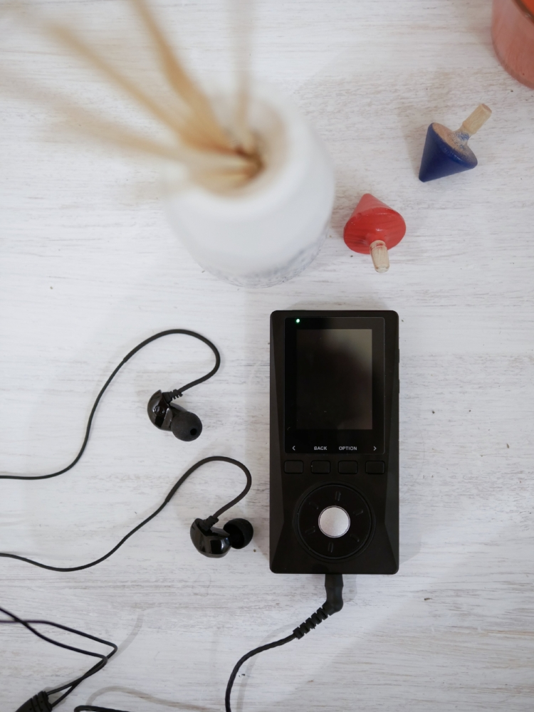 Brainwavz B200 earphones with the Xduoo X10.
