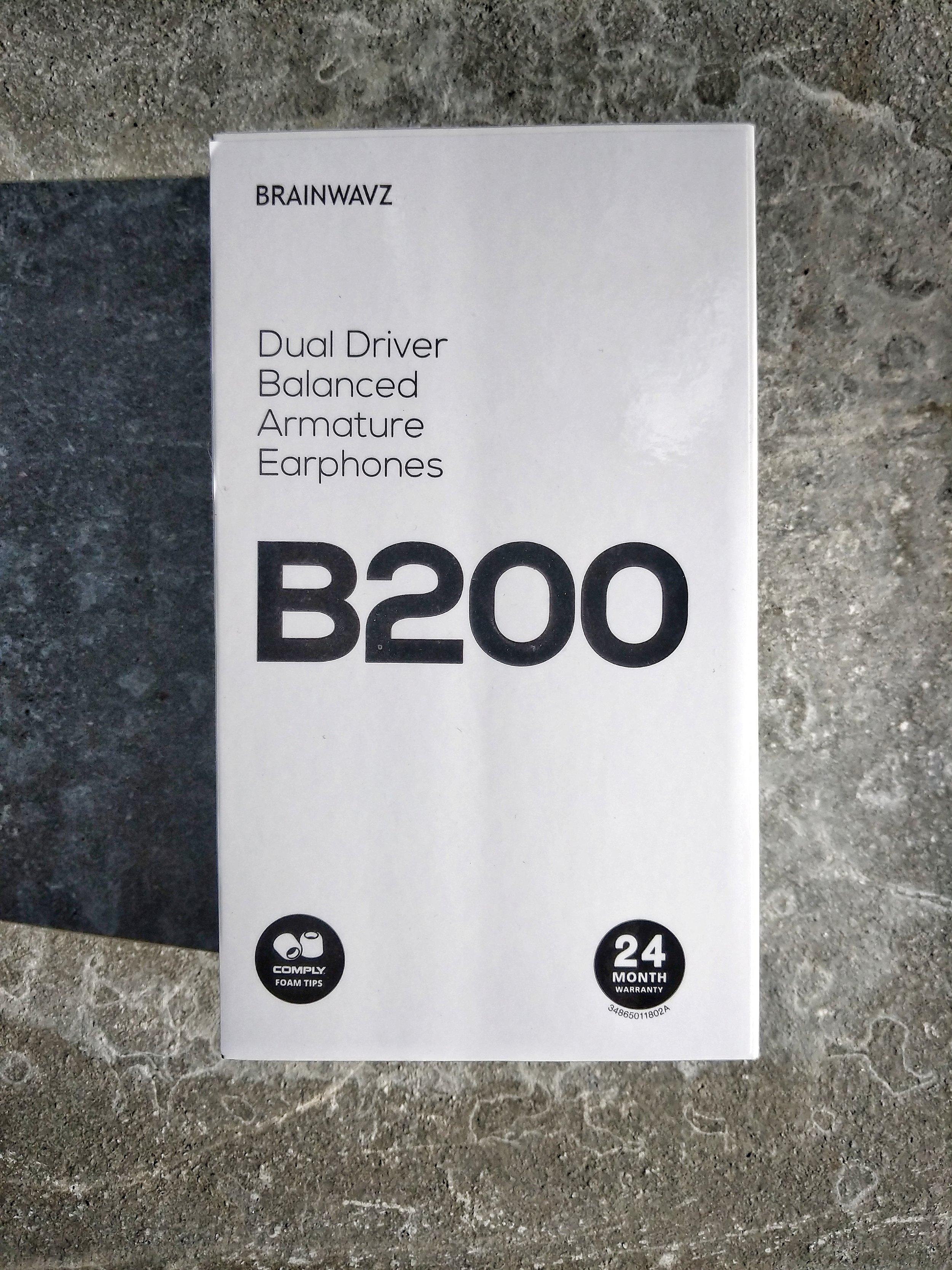 Brainwaves B200 earphones box