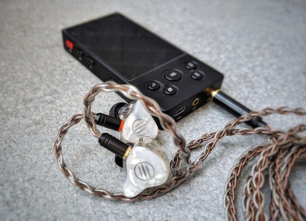 The BGVP DM7 Earphones with the Xduoo X3ii MP3 Player.