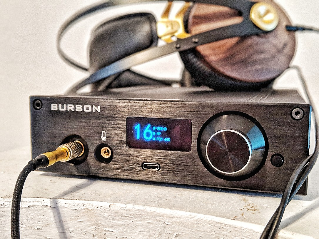 Burson Playmate review - In this picture there is the Burson Playmate being used with the Meze Audio 99 Classics Headphones.